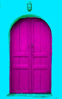 Magenta door! or should I say cyan wall? I can't decide, so I guess I will stick with MAGENTA! #printer's #conundrum