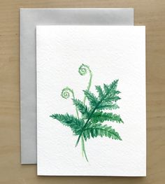 85 best hand painted watercolor cards images on pinterest hand painted greeting card watercolor fern blank card original watercolor cards handmade card m4hsunfo