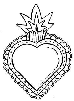 CORAZONES MEXICANOS PLANTILLAS Y DIBUJOS Aluminum Can Crafts, Metal Crafts, Textile Jewelry, Textile Art, Mandala Art, Valentine Heart, Valentines, Tin Art, Head And Heart