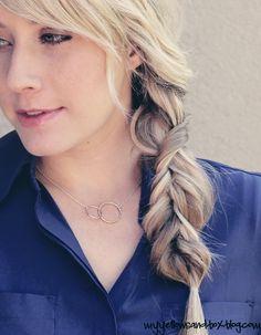 Alternative braid tutorial. No three strand braiding. Just twisting. Great for layered hair!