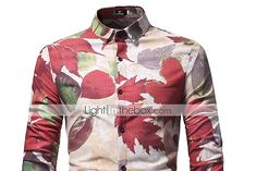 [$16.99] Men's Cotton Shirt Print