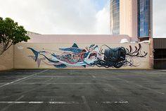 Pow Wow Hawaii 2013 - Nychos / Jeff Soto  visit dopewriter.com to buy personal graffiti via paypal