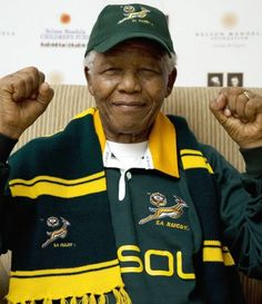 "Our Madiba! In South Africa, Nelson Mandela is often known as Madiba, his Xhosa clan name . the ""father of the nation"" Nelson Mandela, Xhosa, Black Presidents, Out Of Africa, My Heritage, Rugby Players, Human Rights, Beautiful People, History"