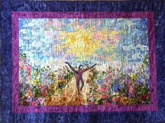 A Spiritual Path. This was created for the yoga director of Living Yoga Center in Champaign, IL and a good friend. She commissioned it from me. Living Yoga, Spiritual Path, Love Languages, Quilt Stitching, Diy Painting, Hippy, Temples, Hippie Boho, Diy Art