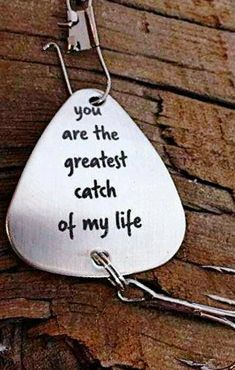You are the Greatest Catch of My Life Fishing Lure Carp Fishing Tips, Fishing Basics, Fishing Tools, Fishing Gifts, Fishing Lures, Fly Fishing, Fishing Stuff, Saltwater Fishing, Fishing Tackle