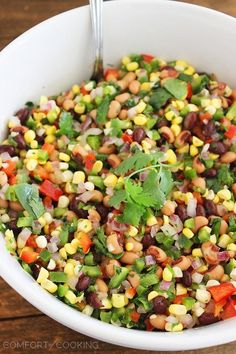 The Comfort of Cooking » Texas Caviar This is one of my favorite things to make this time of year.  I add diced avocado, tomatoes and green onlons (instead of the red onion) - there are a zillion combinations that work and make it yours.  YUM!!