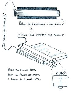 DIY press {image only}   the website has DIY instructions for book binding