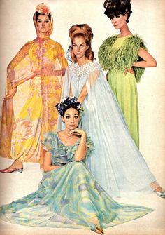 1960's actresses in evening wear