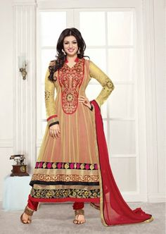 Aisha Takia in  a beautiful red and yellow eid indian dress