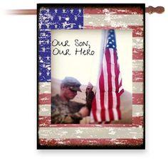 Custom military hero flag
