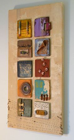 Abstract art assemblage with found objects by MatangaBay on Etsy. Abstract art assemblage with found objects by MatangaBay on Etsy. Art Altéré, 3d Art, Found Object Art, Found Art, Arte Assemblage, Art Du Collage, Art Texture, Inspiration Art, Diy Canvas