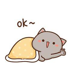 Cute Cartoon Images, Cute Love Cartoons, Chibi Cat, Cute Chibi, Cute Anime Cat, Bear Gif, Cute Cat Illustration, Cute Bear Drawings, Cat Couple