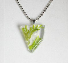 Real Fern Necklace in Resin Pendant for Renewal by GreyGyrl, $13.00