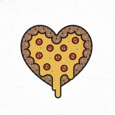 Pizza one love. #Illustration #illustrator #logoplace #vector #illustree…