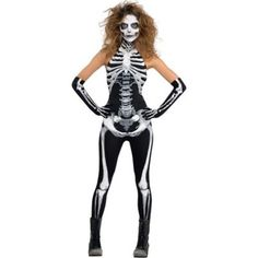 Buy Adult Deluxe Bone-a-Fied Babe Halloween Skeleton Costume 10 - 12 from Tiger Feet Party. Adult Deluxe Bone-a-Fied Babe Halloween Skeleton Costume 10 - Skeleton Costume Women, Skeleton Halloween Costume, Halloween Fancy Dress, Adult Halloween, Halloween Costumes For Kids, Women Halloween, Female Skeleton, Halloween Parties, Halloween Fashion