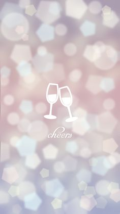 cheers champagne new year minimal iphone 6 wallpaper