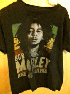ca9407189 Bob Marley And The Wailers T Shirt Sz M Black Short Sleeve Zion Rootswear  Reggae