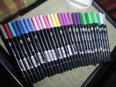 Tombow ABT Dual Brush Art Pens 30 with a few duplicates - http://crafts.goshoppins.com/art-supplies/tombow-abt-dual-brush-art-pens-30-with-a-few-duplicates/
