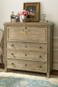 Our popular Bruges Secretary is back in stock! It doubles as a writing desk or elegant vanity.
