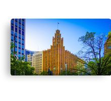 View to the Manchester Unity Building - Melbourne, Victoria Canvas Print