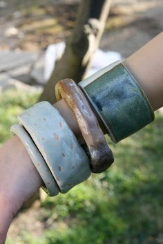 ceramic bangles, although I wonder how long they'd last before i smashed them. lol