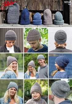 92148 - Hue til alle fra Järbo Knit Crochet, Crochet Hats, Man Crafts, Wrist Warmers, Outfits With Hats, Pullover, Mittens, Knitted Hats, Prepping