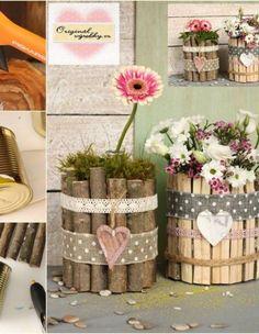 Handmade Home, Clay Crafts, Ladder Decor, Pergola, Planter Pots, Recycling, Table Decorations, The Originals, Interior