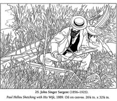 Realistic masterpiece coloring pages ~ 1000+ images about Famous paintings on Pinterest | Dover ...