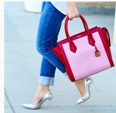 The Rivington Red Canvas Tote lets you accessorize to perfection.