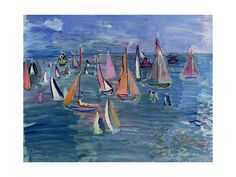 """Regatta by Raoul Dufy, 2nd version, $30 for 24""""x18"""" Posters and Prints at Art.com"""