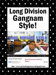 Promoting Success: Long Division Teaching Strategies, Song, Printables, Ideas, Poster and More!