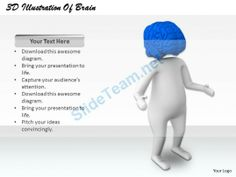 1813 3D Illustration of Brain Power Ppt Graphics Icons Powerpoint #Powerpoint #Templates #Infographics