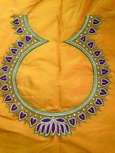 Cutwork Blouse Designs, Best Blouse Designs, Simple Blouse Designs, Stylish Blouse Design, Bridal Blouse Designs, Kurti Embroidery Design, Embroidery Neck Designs, Embroidery Blouses, Hand Embroidery