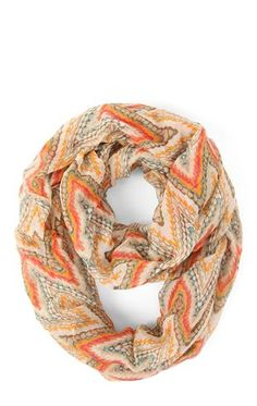 Deb Shops Infinity #Scarf with #Aztec and #Chevron Print Design $14