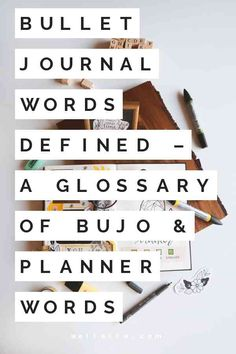 "Many bullet journal words are unheard of outside the journaling / planner online communities. In order to help you decode things like ""bujo"" and ""future log,"" in this post I'll walk you through a few . Bullet Journal For Beginners, Bullet Journal Font, Journal Fonts, Bullet Journal How To Start A, Keeping A Journal, Bullet Journal Ideas Pages, Bullet Journal Inspiration, Journaling, Bullet Journals"
