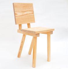 This wooden chair by designers Markus Bergström and Joe Nunn