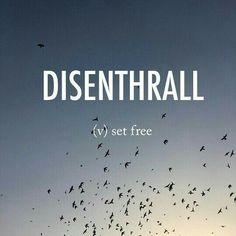 Disenthrall ˌdisənˈTHrôl dis-enthrall late Middle English (in the sense 'enslave'; formerly also as inthrall): from en-,in- (as an intensifier) + thrall # The post Disenthrall ˌdisənˈTHrôl dis-enthrall late M… appeared first on Woman Casual - Life Quotes Unusual Words, Weird Words, Rare Words, Unique Words, Cool Words, Fancy Words, Big Words, Pretty Words, Deep Words