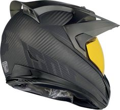 Tinted Shield Motorcycle Helmets - Variant Ghost Carbon by Icon is Comfortable, Stylish and Safe (GALLERY) Motorcycle Helmet Design, Motorcycle Outfit, Concept Motorcycles, Cool Motorcycles, Yamaha R6, Icon Helmets, Carbon Fiber Helmets, Offroader, Cool Gear