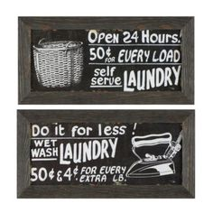 vintage chic!  Vintage Laundry Framed Art | Ballard Designs