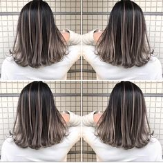 Scan @ 17 Jul 2019 AM --------------------------------------------- tworldisforhairdressers hair Brown Hair With Blonde Highlights, Hair Highlights, Hair Color And Cut, Ombre Hair Color, Underlights Hair, Girl Hair Colors, Front Hair Styles, Hair Color Techniques, Aesthetic Hair