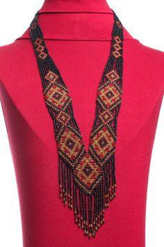 Traditional style Ukrainian beaded necklace
