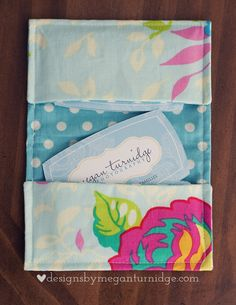 DIY Business Card Holder Sewing Project
