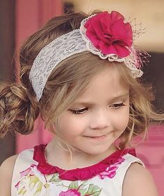 Look what I found on #zulily! Pink Lace Edith Soft Headband #zulilyfinds