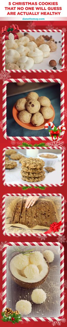 'Tis the season to eat cookies! Here are 5 of my most popular cookie recipes and believe me, no one will ever even suspect they are healthy.