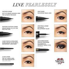 Shop Kat Von D& Tattoo Liner. Explore more of Kat Von D& collection of liquid eyeliners, long lasting lipsticks, and more. Be bold with Kat Von D! Kat Von D Eye Makeup Steps, Eyebrow Makeup, Skin Makeup, Eyeshadow Makeup, Beauty Makeup, Emo Makeup, Makeup Geek, Navy Eyeshadow, Sparkly Eyeshadow