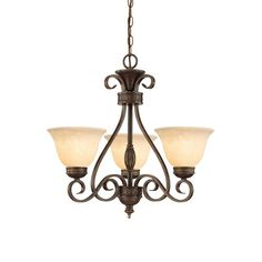 Millennium Lighting 7163-BZ/G Bronze / Gold Alma 3 Light Single Tier Chandelier - LightingDirect.com