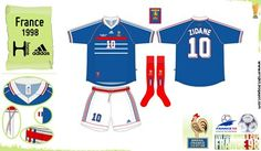 France home kit for the 1998 World Cup Finals.