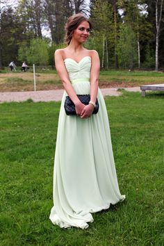 Mint green drape dress