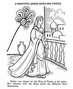 Bible Printables - Old Testament Bible Coloring Pages - Ester 1