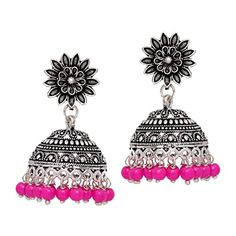 Bollywood Party Wear Oxidized Jhumki Earrings for Women /... https://www.amazon.com/dp/B06XP9VRSP/ref=cm_sw_r_pi_dp_x_3kg6ybYM9S63S